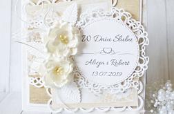 Elegancka kartka ślubna