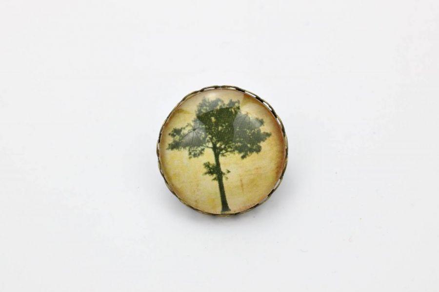 Broszka z sosną