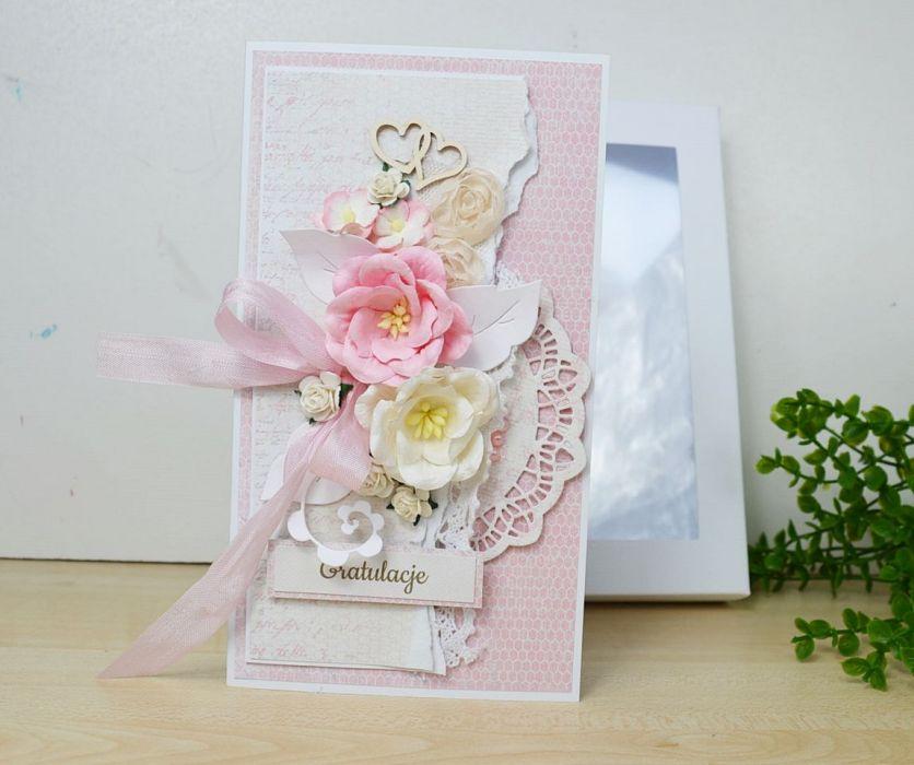 Różowa Kartka w pudełku