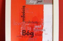 plakat w ramce Bóg jest miłością