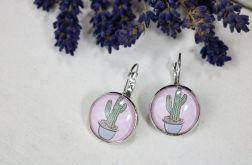 Kolczyki wiszące z kaktusem