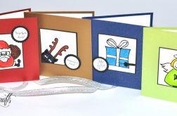 Komplet 4 kart świątecznych -3-