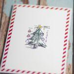 Stempelkowa kartka 3 - Kartka świąteczna z choinką