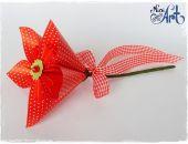 Kwiat w niebieskie kropeczki kusudama