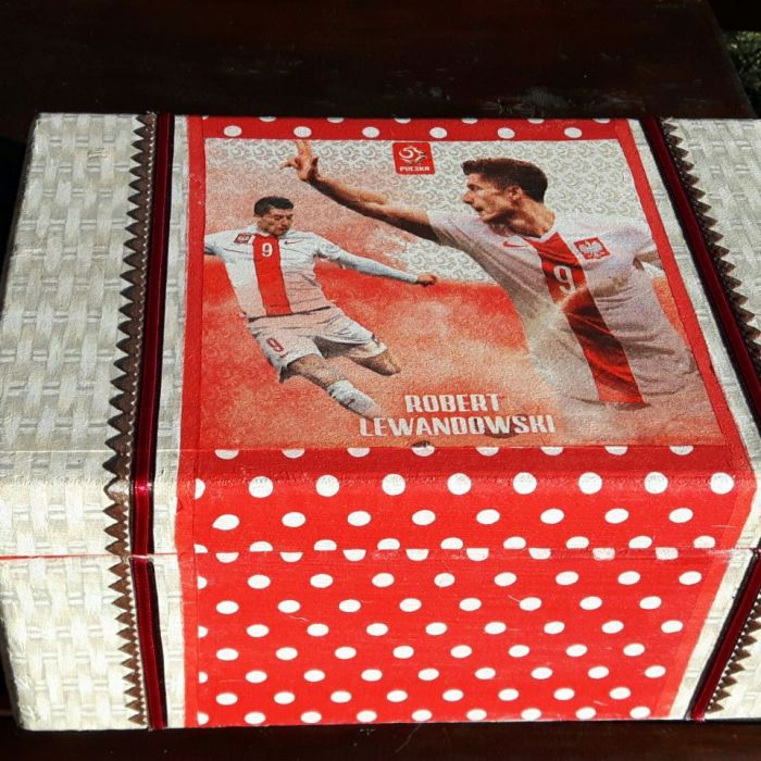 Kufer kibica Lewandowski, duże pudełko