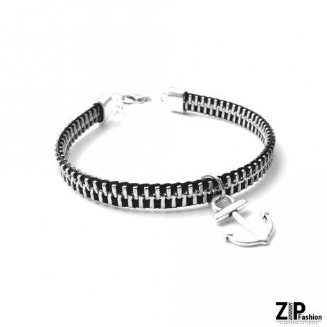 Designerska bransoletka z zawieszką kotwica