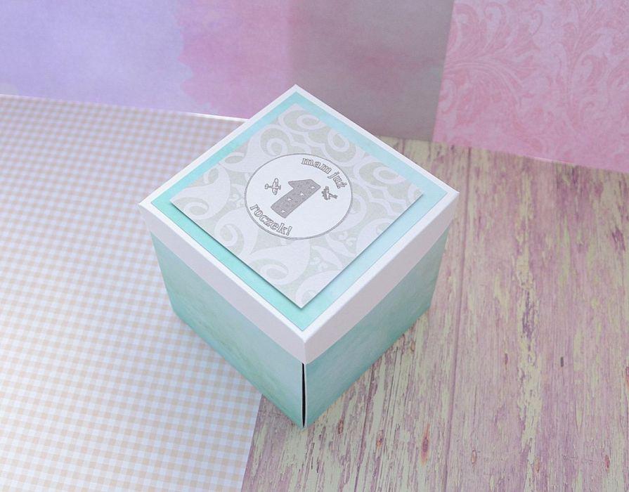 Exploding box roczek kartka pudełko