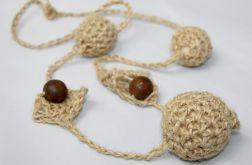 Naturalna biżuteria - korale drewniane