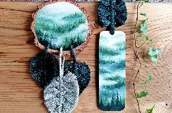Łapacz snów i zakładka do książki las świerkowy