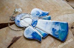 Aniołek Biało-Niebieski średni