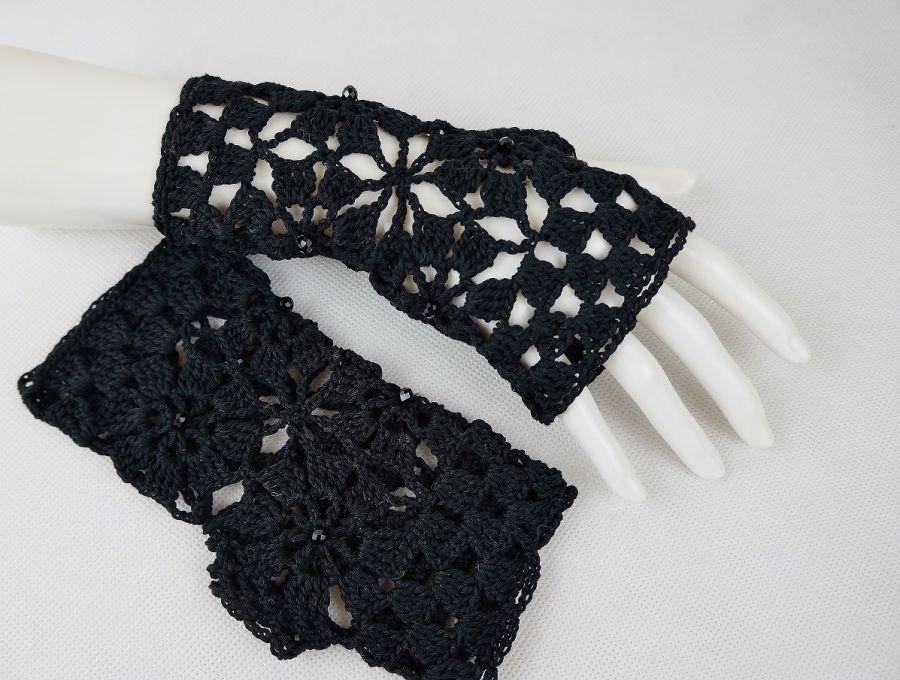 Rękawiczki, mitenki czarne