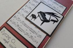 Kartka muzyka,urodziny,imieniny, inne okazje