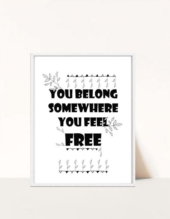 Plakat You belong...