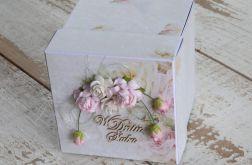 exploding box na ślub róże