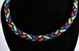 Kolorowy naszyjnik koralikowy