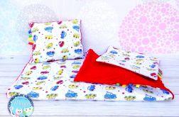 Kołderka - pościel - zestaw kocyk - puszysty i dwie poduszki SZARE GWIAZDKI