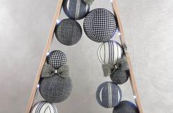 Drewniana choinka hande made w popielach LED