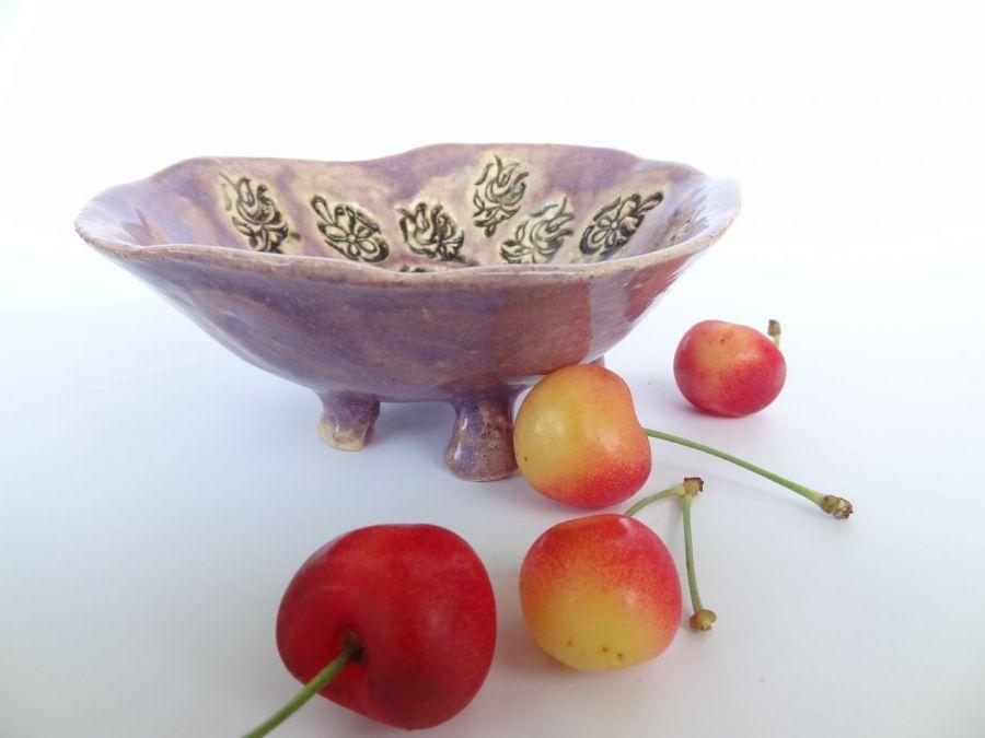 fioletowa mała miseczka