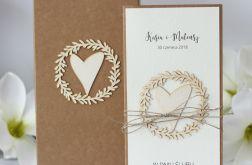 kartka i pudełko rustykalne ślubne