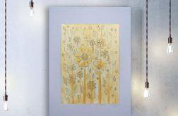 Kwiaty 1 - rysunek dekoracyjny, obrazek