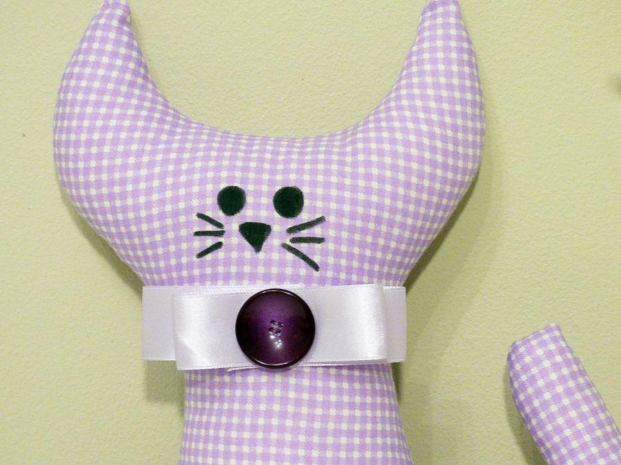 Kotek w kratkę - maskotka - kot w kratkę mordka