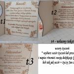 Pamiątka Pierwszej Komunii Świętej - podwójna kartka z życzeniami - wzór tekstu