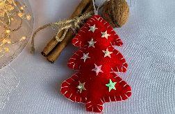 Dekoracja świąteczna z filcu z ozdobnymi cekinami - wzór 009