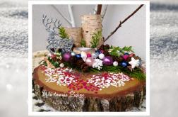 Świecznik na plastrze brzozy prezent ozdoba domu
