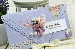Kartka na ślub -liliowe marzenia