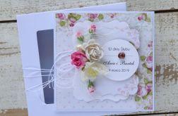 Kartka ślubna z personalizacją + pudełko a9