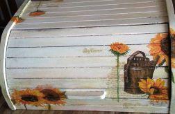 chlebak drewniany słoneczniki