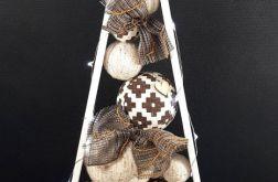 Drewniana skandynawska choinka w brązach LED