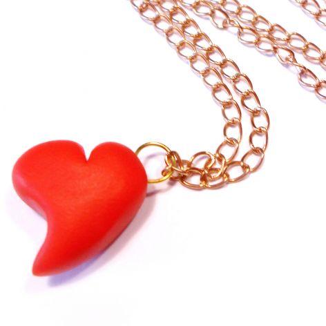serce z modeliny - naszyjnik
