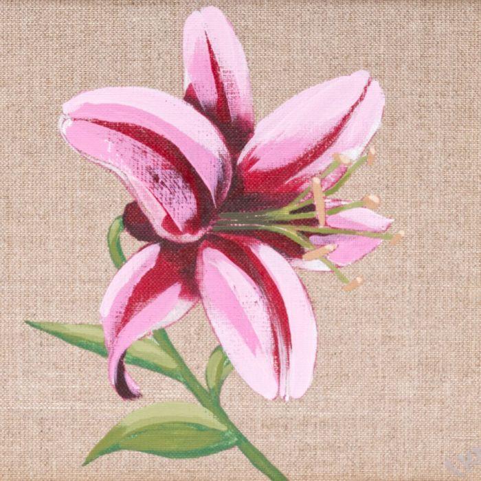 Lilia - obraz malowany na płótnie lnianym