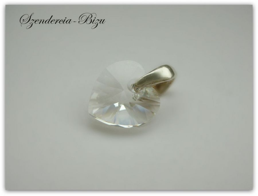 Zawieszka Swarovski Elements Heart 10mm Crystal