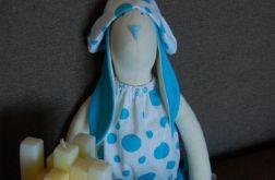 Turkusowa Helga - królik tilda