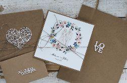 Kartka ślubna z pudełkiem i kopertą 13