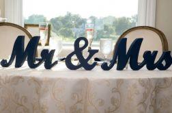 Dekoracja Napis Ślub Mr&Mrs 20cm