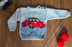 sweterek dziecięcy auto