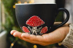 Kubek ręcznie malowany - Muchomor