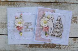 Kartka na ślub z pudełkiem - zestaw 8
