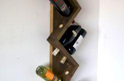 Półka z drewna na 10 butelek wina