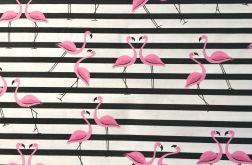 Tkanina bawełna-flamingi exotic