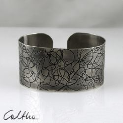 Nitki - metalowa bransoleta  151001-07