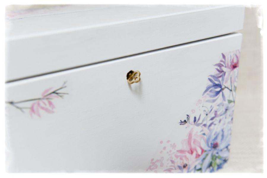 Skrzynka na koperty Ślub, Piękna, na kluczyk -
