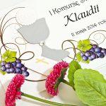 Zaproszenia na Pierwszą Komunię -winorośl - Zaproszenie na Komunię Świętą 3D