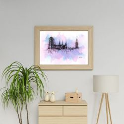 PLAKAT Gdańsk panorama dekoracja hotel