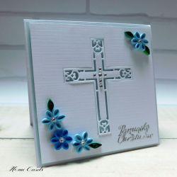 Kartka na Chrzest Święty 1 quilling