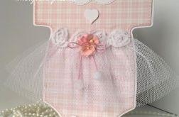 Kartka sukieneczka do chrztu