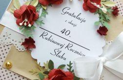 Rubinowe Gody z rubinowymi różami